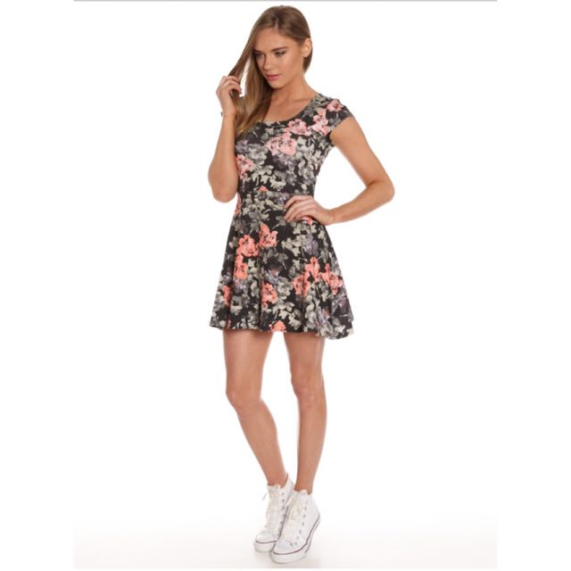 All About Eve Floral Skater Dress