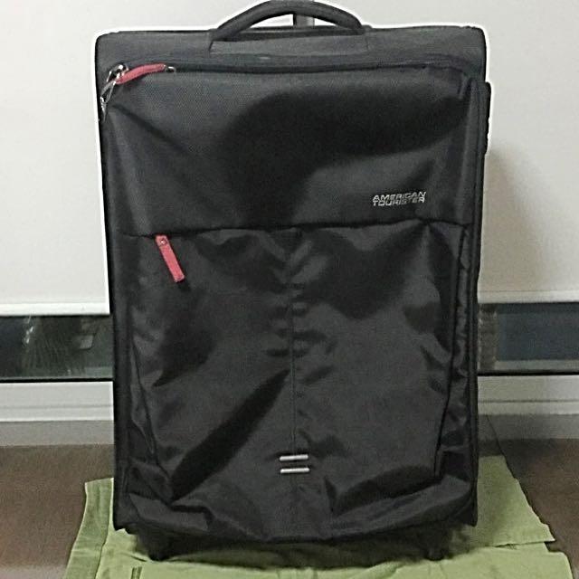 ad95e3e46 American Tourister Smart Ultra-Light Tech Luggage (Black), Women's Fashion,  Bags & Wallets on Carousell