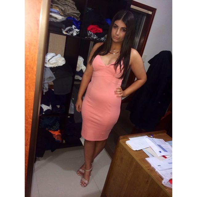 Bardot Pink Cut Out Dress
