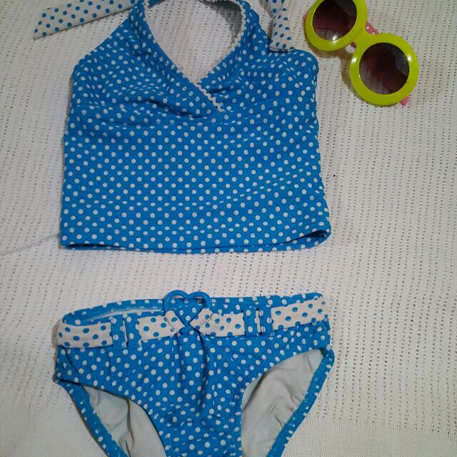 Blue Polka Swimsuit