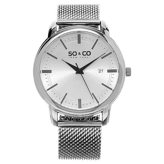 Brand New SO&CO New York Stainless Steel Mesh Bracelet Watch By Sthurling (NEGOTIABLE)
