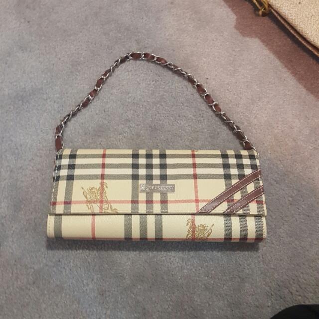 Burberry Clutch Small Hand Held Bag
