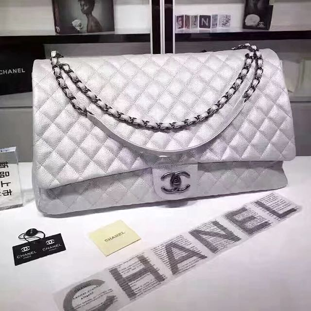 8e2a50db60a1 Chanel Airlines XXL Classic Flap Bag, Luxury, Bags & Wallets on Carousell
