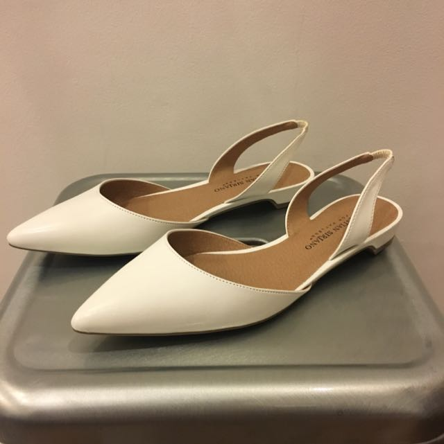 Christian Siriano for Payless White Slingback Flat Mules