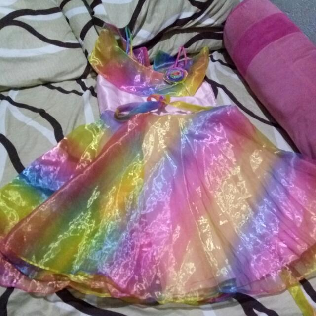 Colorful Gown For 5-6 Yrs Old