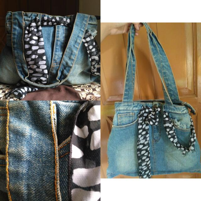Cute Denim Jeans Handbag