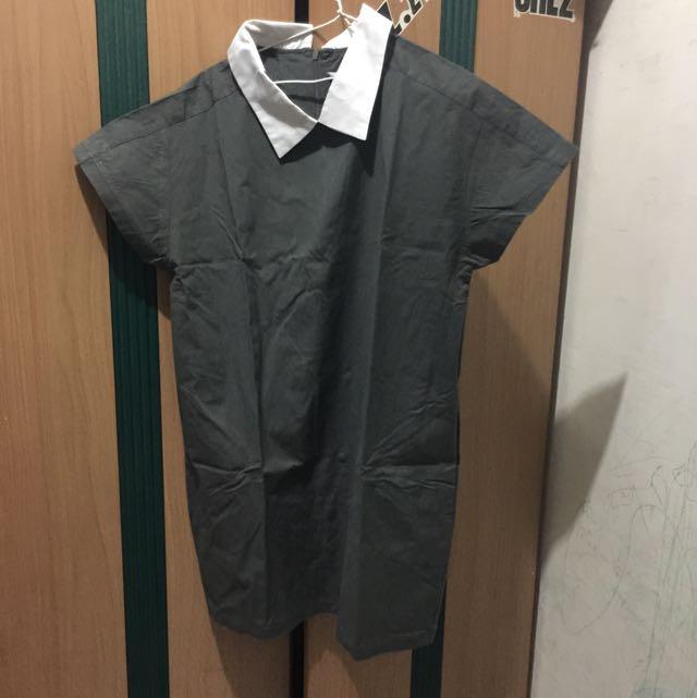 dress aksen kerah