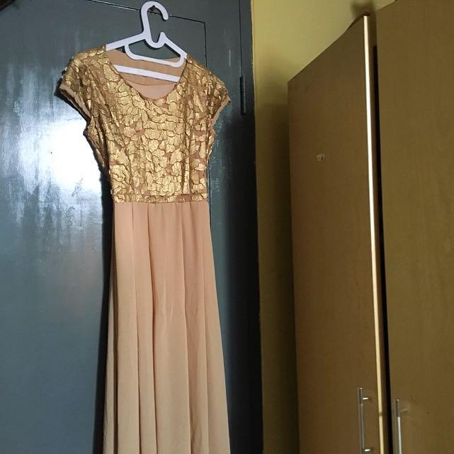 dress panjang lucuk baru dipake sekali