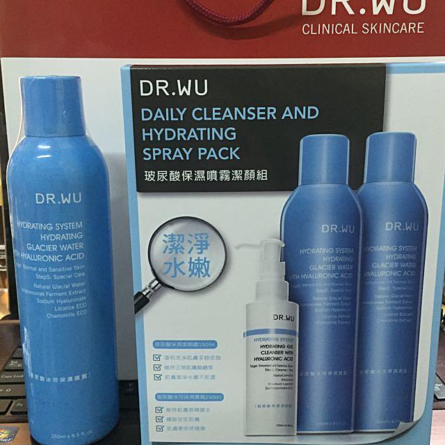 DR.WU 玻尿酸保濕噴霧潔顏組+玻尿酸冰河保濕噴霧