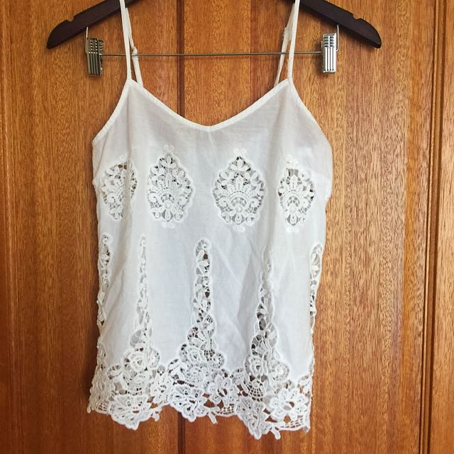 Embroidery Strap Top Size S