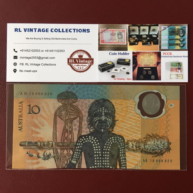 First $10 polymer Of Australia Banknote