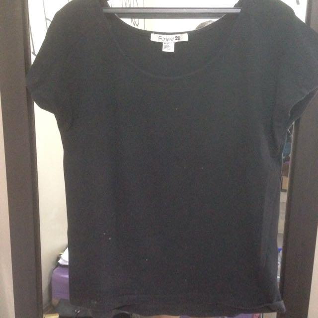 Forever21 Black T-shirt