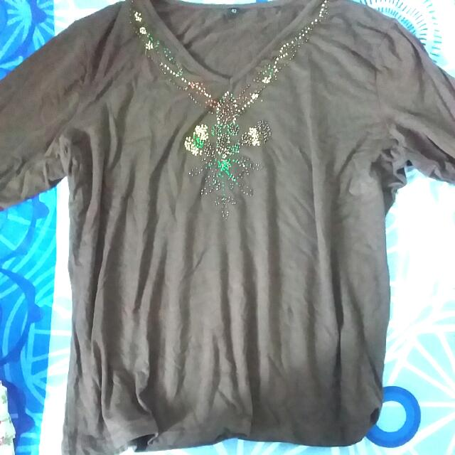 e3fb3c6a80 Free Plus Size Beaded Long Sleeve Cooling Shirt W Purchase