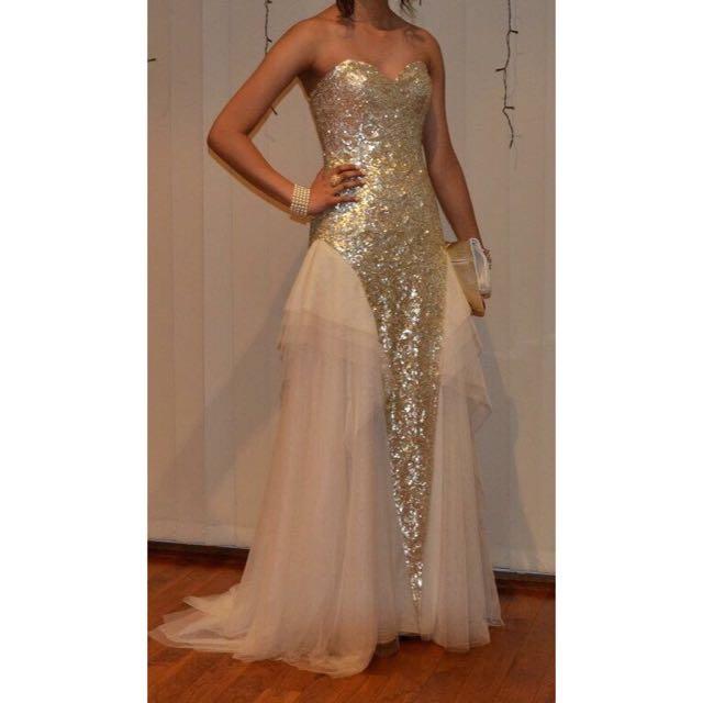 GASP Gold Formal Dress