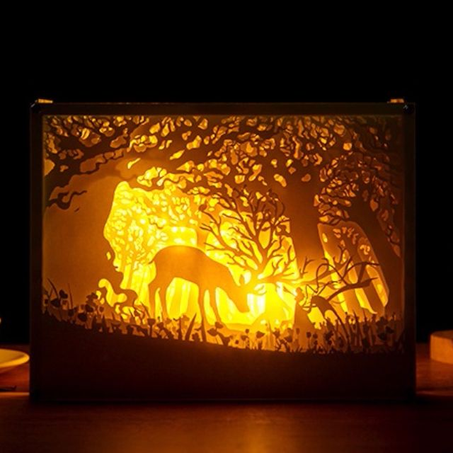 God Beast Handmade Paper Craft 3D Night Light Shadow Box
