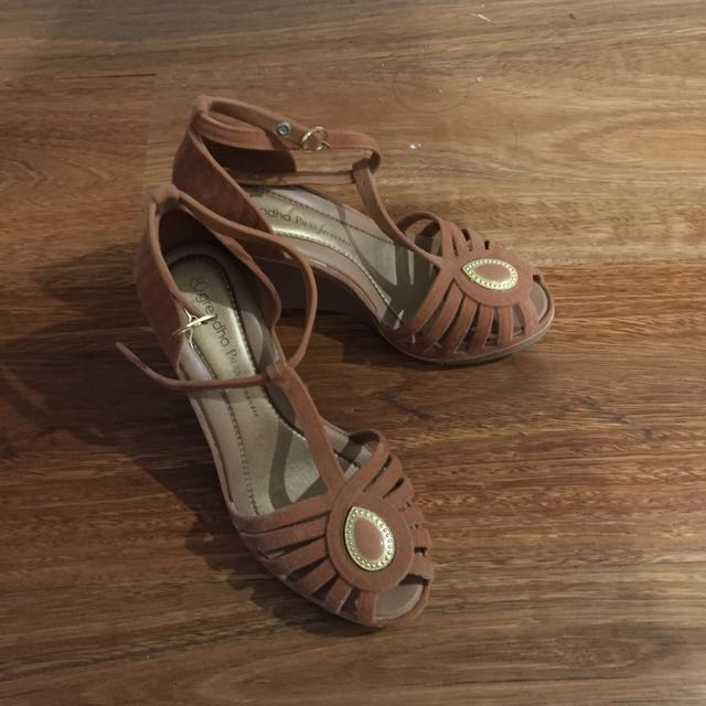 Grendha x Paula Fernandes Wedge Sandals (used once)