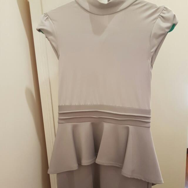 Grey Bareback Dress
