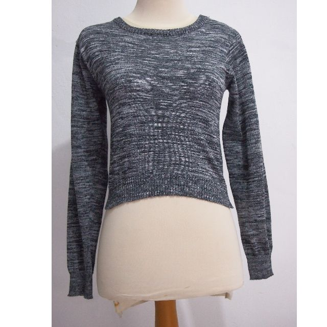 Grey Knit Crop Top
