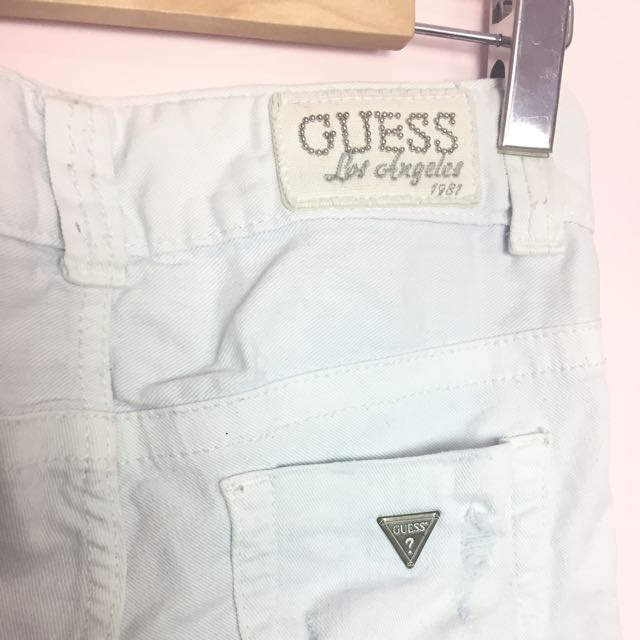 Guess Distressed White Skinny Jeans