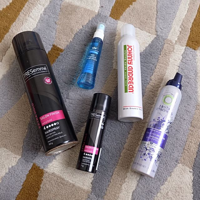 Hairspray & Styling Mousse (Tresemmé, Herbal Essence, Johnny Andrean, Good)