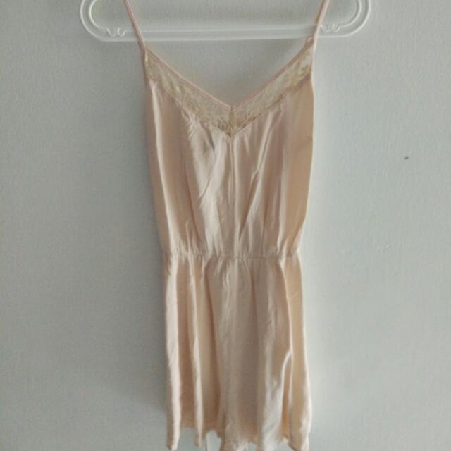 H&M Nude Pink Jumpsuit