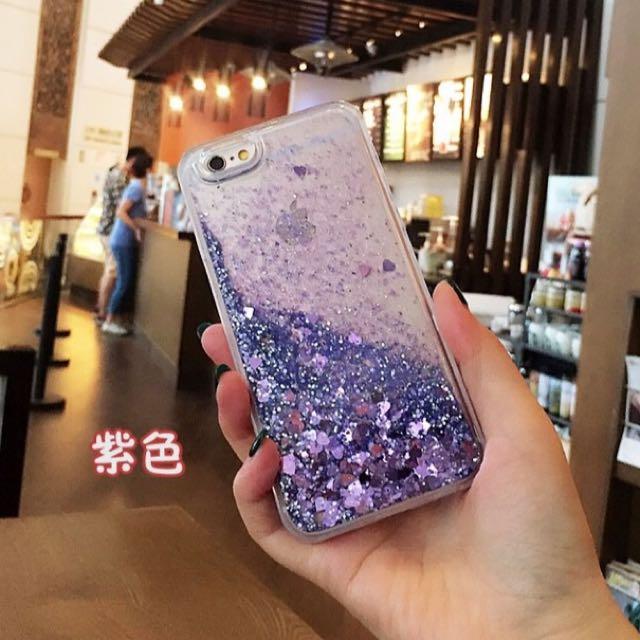 (🆓免運)iPhone7 Plus 愛心流沙保護殼