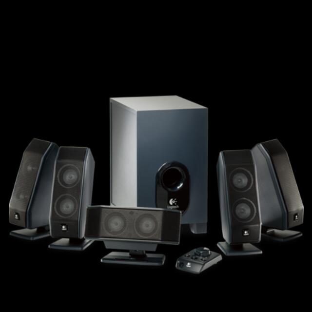 Logitech X-540 5.1 Surround Sound Speaker System with Subwoofer and Controller