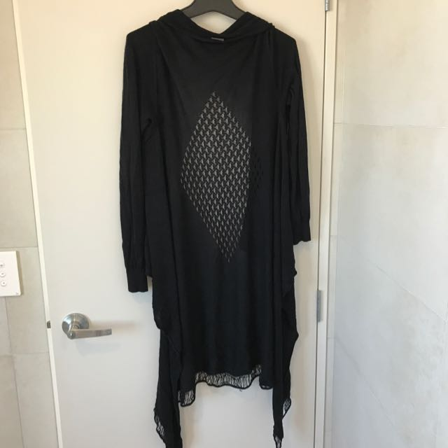Long Black fashion sweater