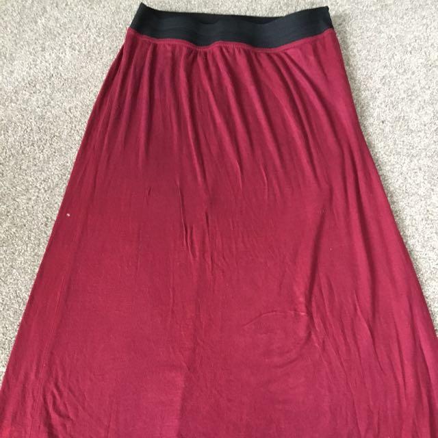 Long Maroon skirt