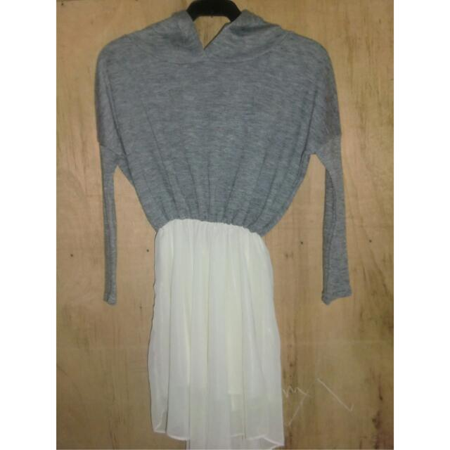 Long Sleeve dress With Hood