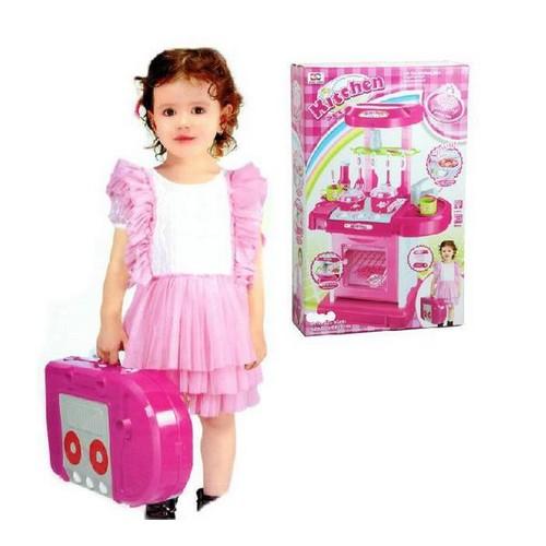 Mainan Anak Kitchen Set Koper Mainan Masak Masakan Toys Collectibles Mainan Di Carousell