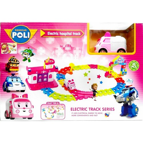 Mainan Anak Robocar Poli Amber Ambulance Car Electric Track Mobil Pink, Toys & Collectibles, Toys on Carousell