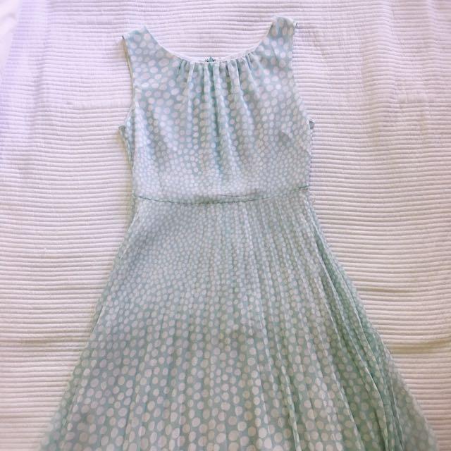 Max Light Blue Chiffon Dress