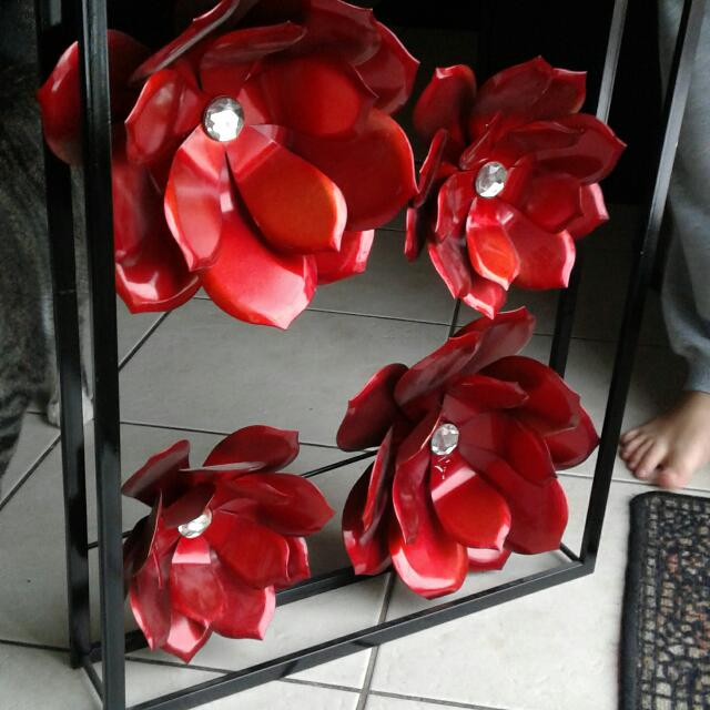 Metal Red Rose Wall Decor