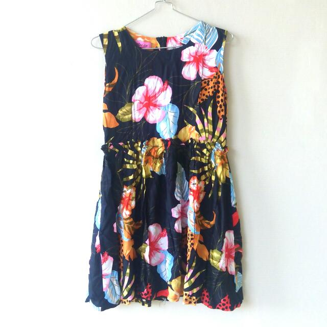 Mini Dress Bunga / Floral Print Mini Dress