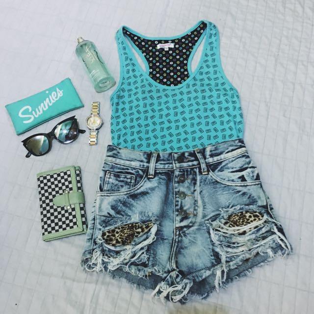 Mint Blue Green Sleeveless