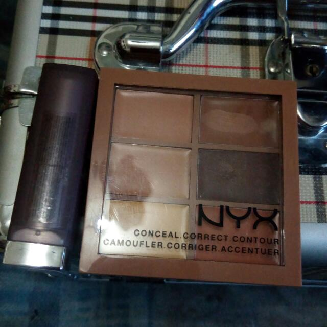 NYX Contour Cream Pallete x Maybelline Creamy Matte (Nude Embrace)