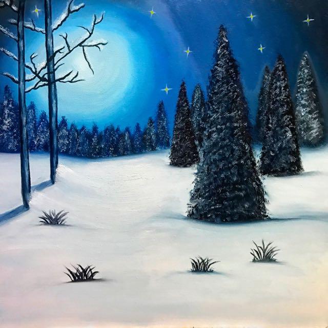 """Oil Paining """"Silent Night"""""""