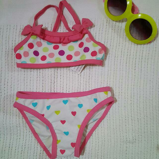 Polka & Heart Swimsuit