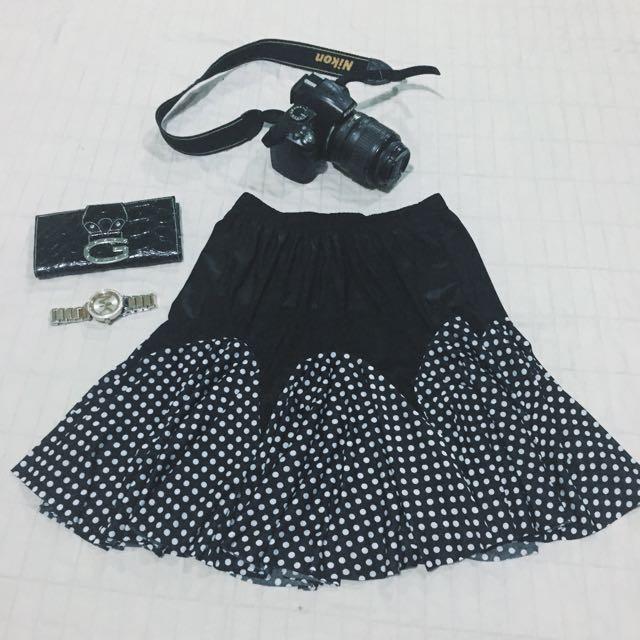 Polka Chiffon Skirt