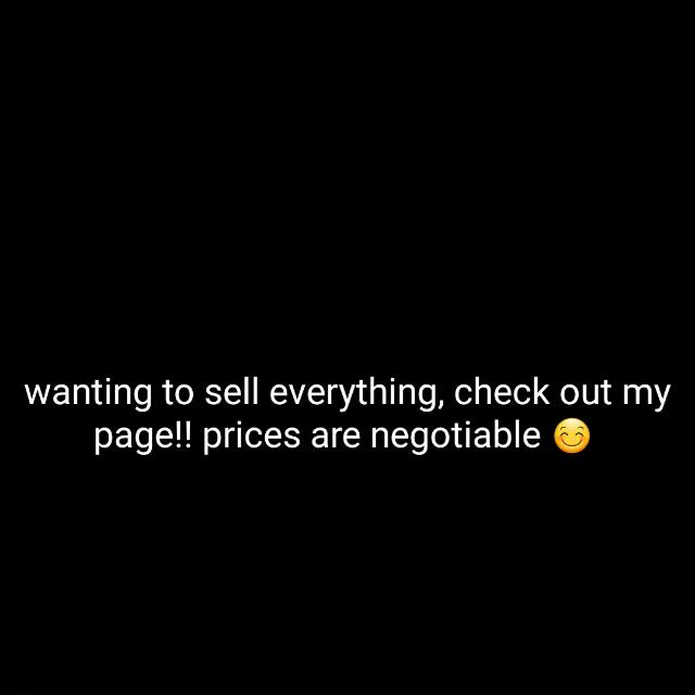 selling all stuff on my page