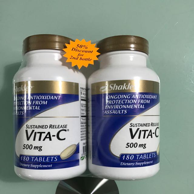 Shaklee Vitamin C 500mg 180s X 2 Health Beauty Hand Foot Care On Carousell