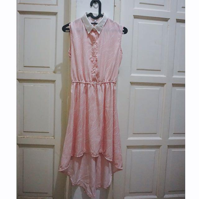 [REPRICE] Soft Pink Collar Dress