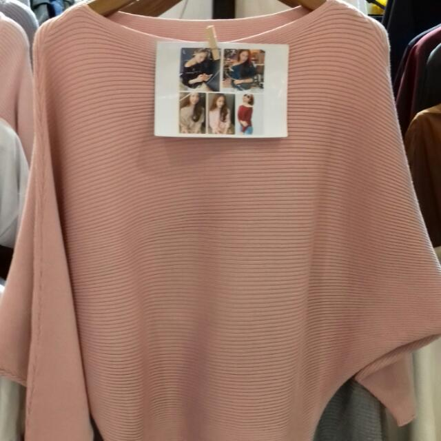 Sweater Batwing Warna Pastel