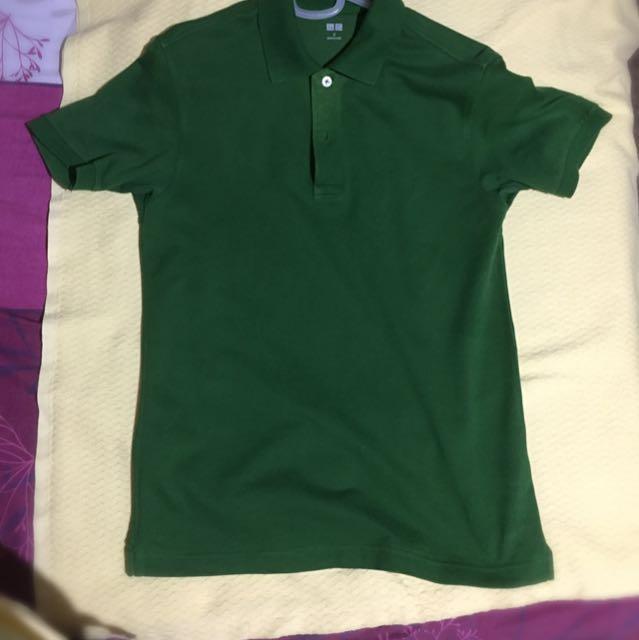 Uniqlo Green Polo Shirt