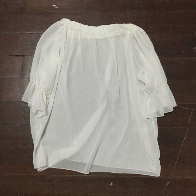 White Off Shoulder Top (See Trough)