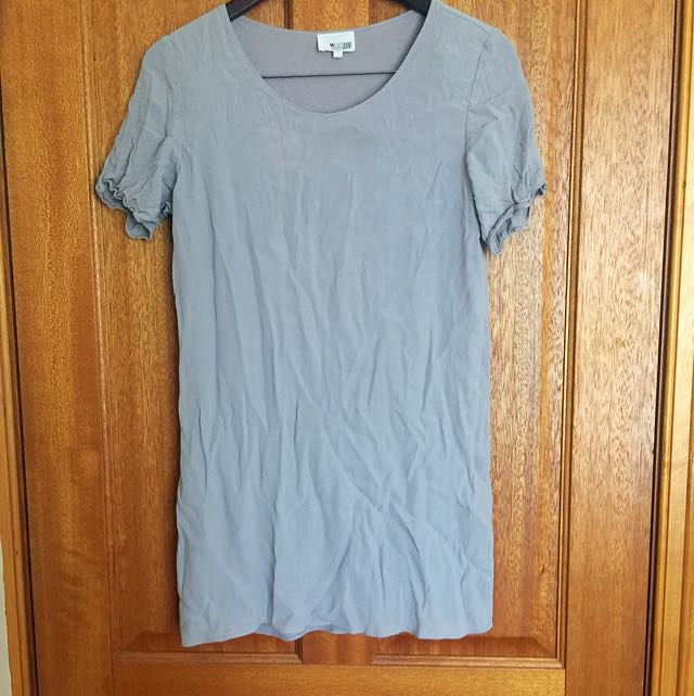 Wilfred Rice Dress Dove Grey Size S