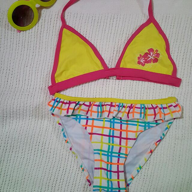 Yellow Stripe Swimsuit