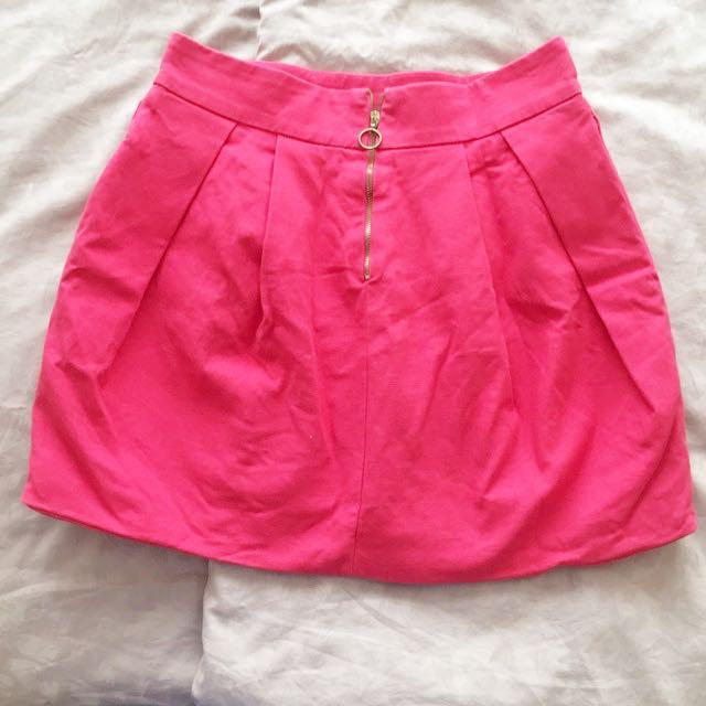 Zara TRF Mini Pink Skirt