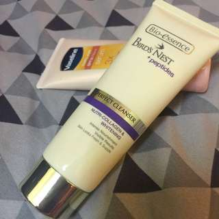 Bio Essence Bird's Nest Perfect Cleanser and Vaseline Healthy White SPF 30++ (reduced)